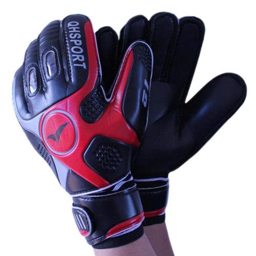 Cool Soccer Receiver Gloves Sport Gloves For Adult, Black/Red