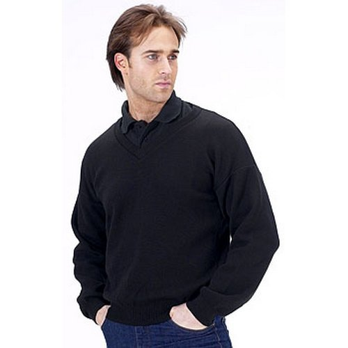 Click ACSVBLL Acrylic Sweater V Neck Black Large