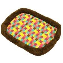 [Plaid] Soft Pet Beds Pet Mat Pet Crate Pads Cozy Beds For Dog/Cat