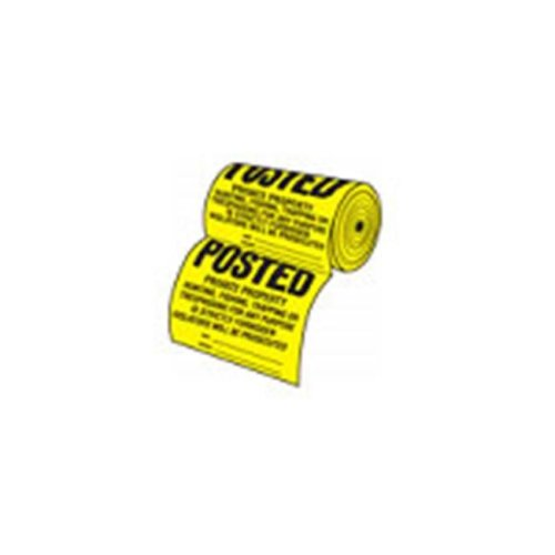 Hy-Ko TSR-100 12 x 12 Inch Posted Private Property Sign - Roll of 100