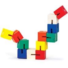 6 Wooden Twisty Blocks Toys