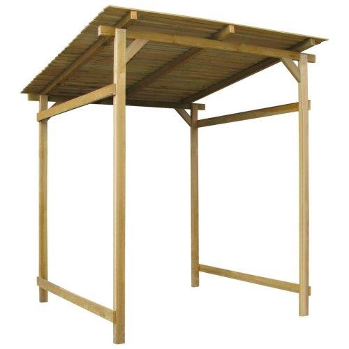 vidaXL Garden Canopy FSC Impregnated Pinewood 170x200x200cm Storage House Shed