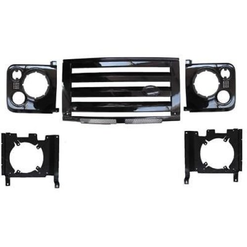LAND ROVER DEFENDER -XS BLACK GRILLE, VENT & HEADLAMP FULL SURROUND KIT
