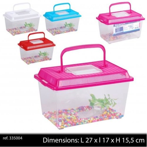 Aquarium Plastic Fish Tank 27 X17 X15,5 Cm