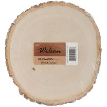 "Basswood Thick Round-9"" To 11"""
