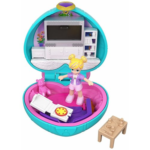 Polly Pocket GCN07 Tiny Pocket Places - Polly Sleepover Compact
