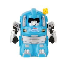 Cute Robot Manual Pencil Sharpener for Office and Classroom (Blue)