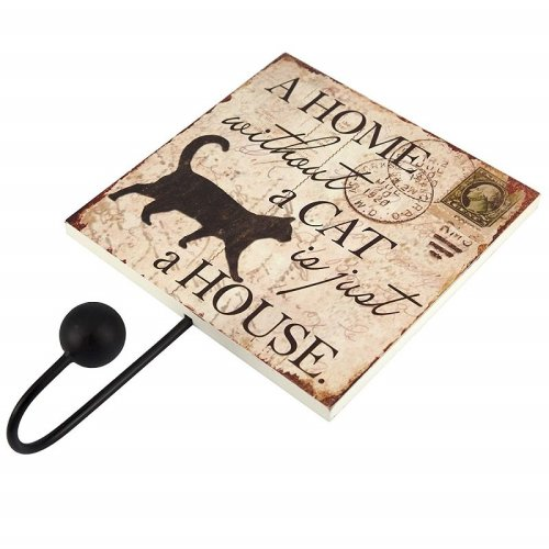 Cat Single Coat Robe Hook A Home Without A Cat Is Just A House