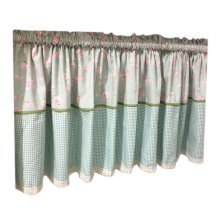 Lovely Cafe Curtain Window Valance/Floral Curtain, Light Blue(170*60 cm)