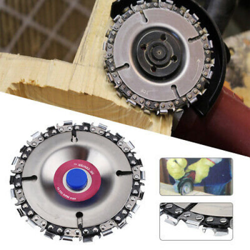 4 Inch Angle Grinder Disc Tooth Chain Saw for Carving Culpting Wood Plastic Tool