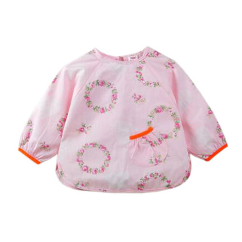 d7b981b7e7a89 Gift Sets Lovely Baby Bibs Feeding Bib Kids Apron Overclothes Waterproof  Long Sleeves Art Smock NO.09