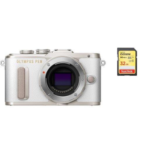 OLYMPUS E-PL8 Body White + SanDisk Extreme 32G SD card