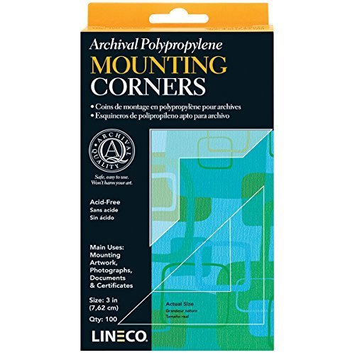 Lineco Self Adhesive Polypropylene Mounting Corners Full View 3 Package of 100 L533 0037