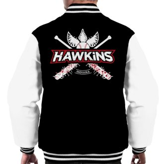 Hawkins Indiana Baseball Team Logo Stranger Things Men's Varsity Jacket
